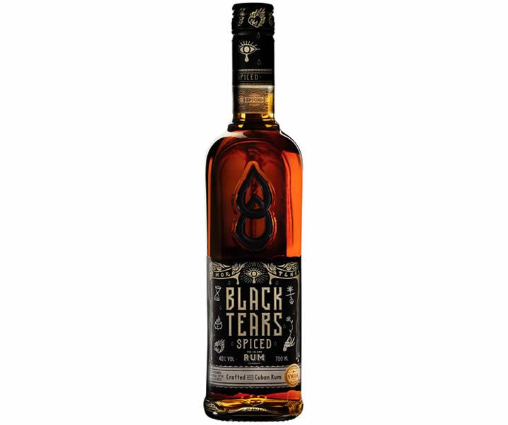 Black Tears Rum bottle