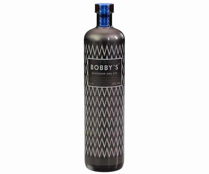 Bobbys Dry Gin bottle